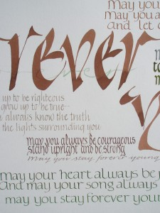 traditional - lettering study